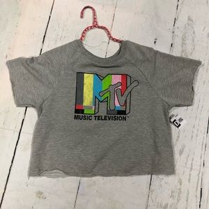 MTV Vintage Style Sweater Crop Top